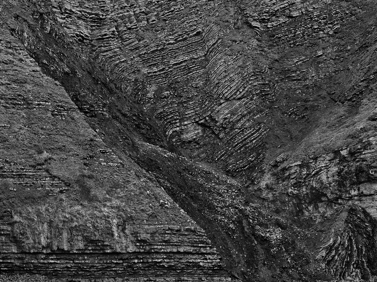 Jon Wyatt Photography - Folding in cliffs at Southerndown, South Wales