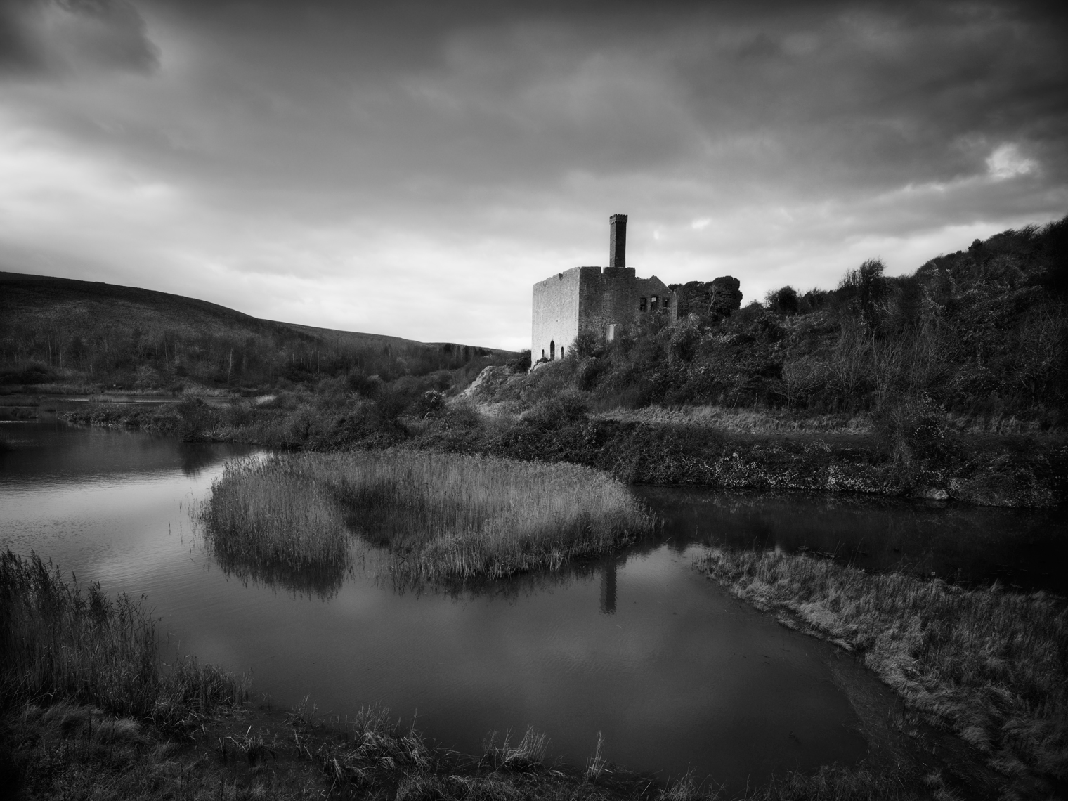 Jon Wyatt Photography - Disused Limekilns in salt marshes at East Aberthaw, South Wales