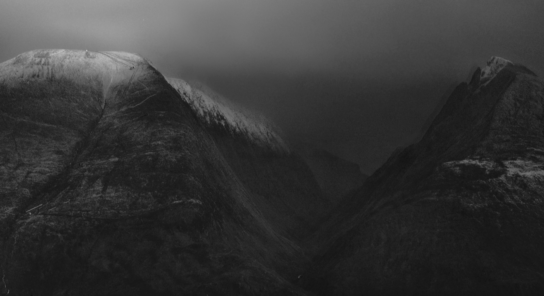 Ben Nevis and Aanoch Mor - detail from previous image