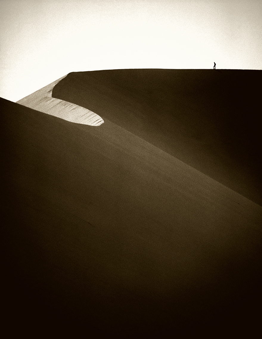 Jon Wyatt Photography -  person silhouetted on Dune 45, Sossusvlei, Namibia