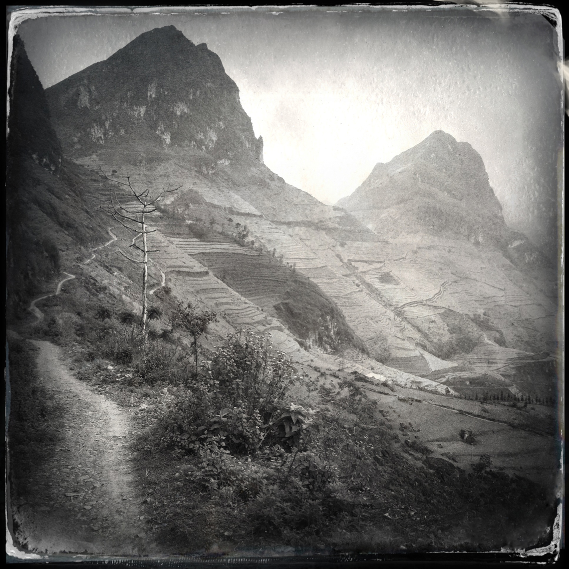 Jon Wyatt Photography - Path near Dong Van, Ha Giang Province, North East Vietnam. Hipstamatic