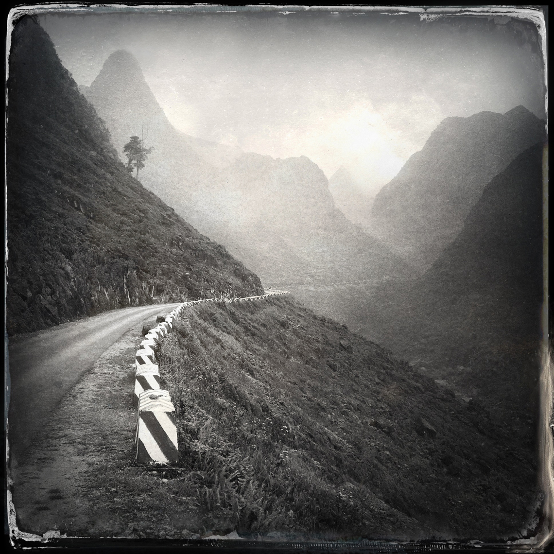 Jon Wyatt Photography - mountain road near Dong Van, Ha Giang Province, North East Vietnam. Hipstamatic