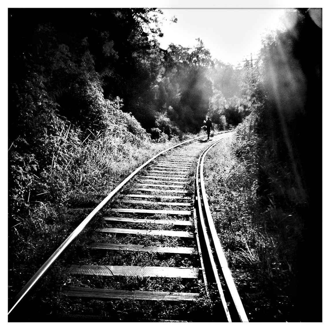 Jon Wyatt Photography - Railway tracks, Sri Lanka. Hipstamatic