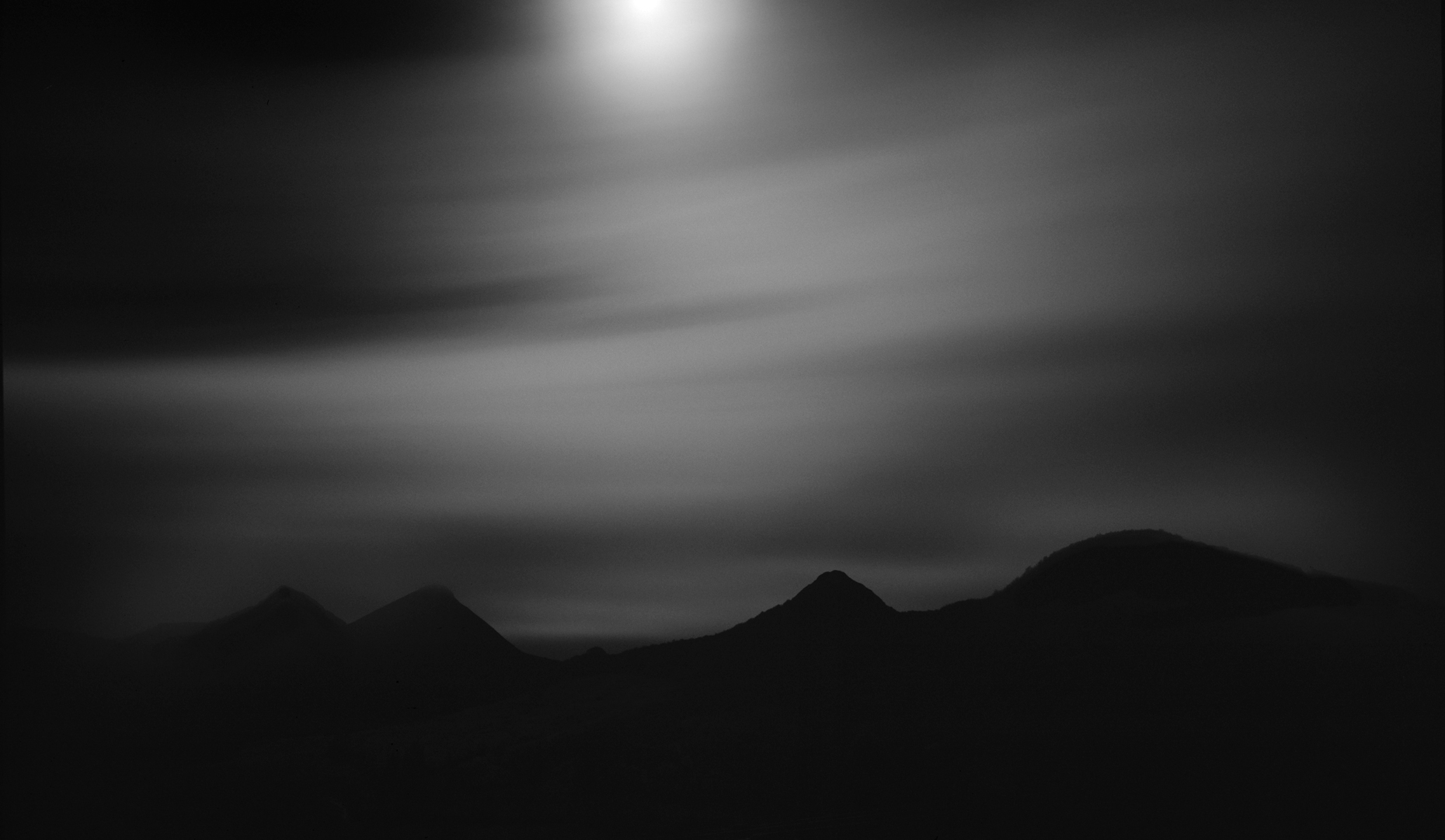 Jon Wyatt Photography - Volcanoes in moonlight, Auvergne, France