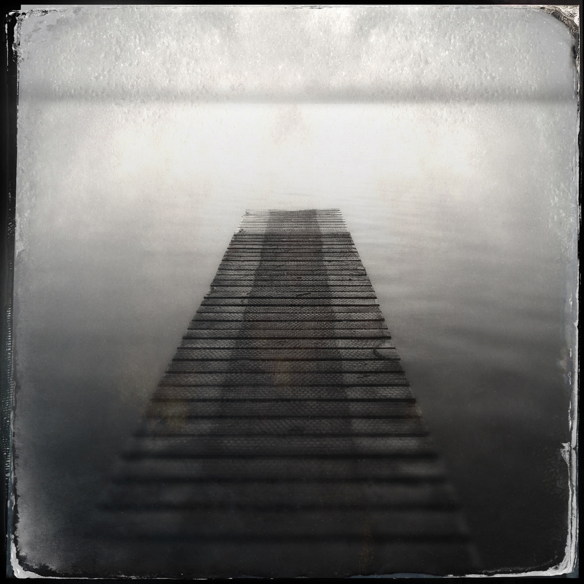 Jon Wyatt Photography - Pontoon in lake, New Zealand. Hipstamatic