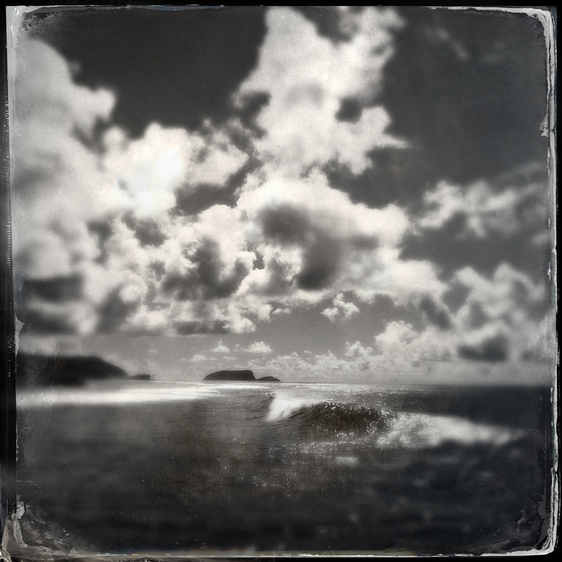 Jon Wyatt Photography - wave breaking in a bay, Samoa. Hipstamatic