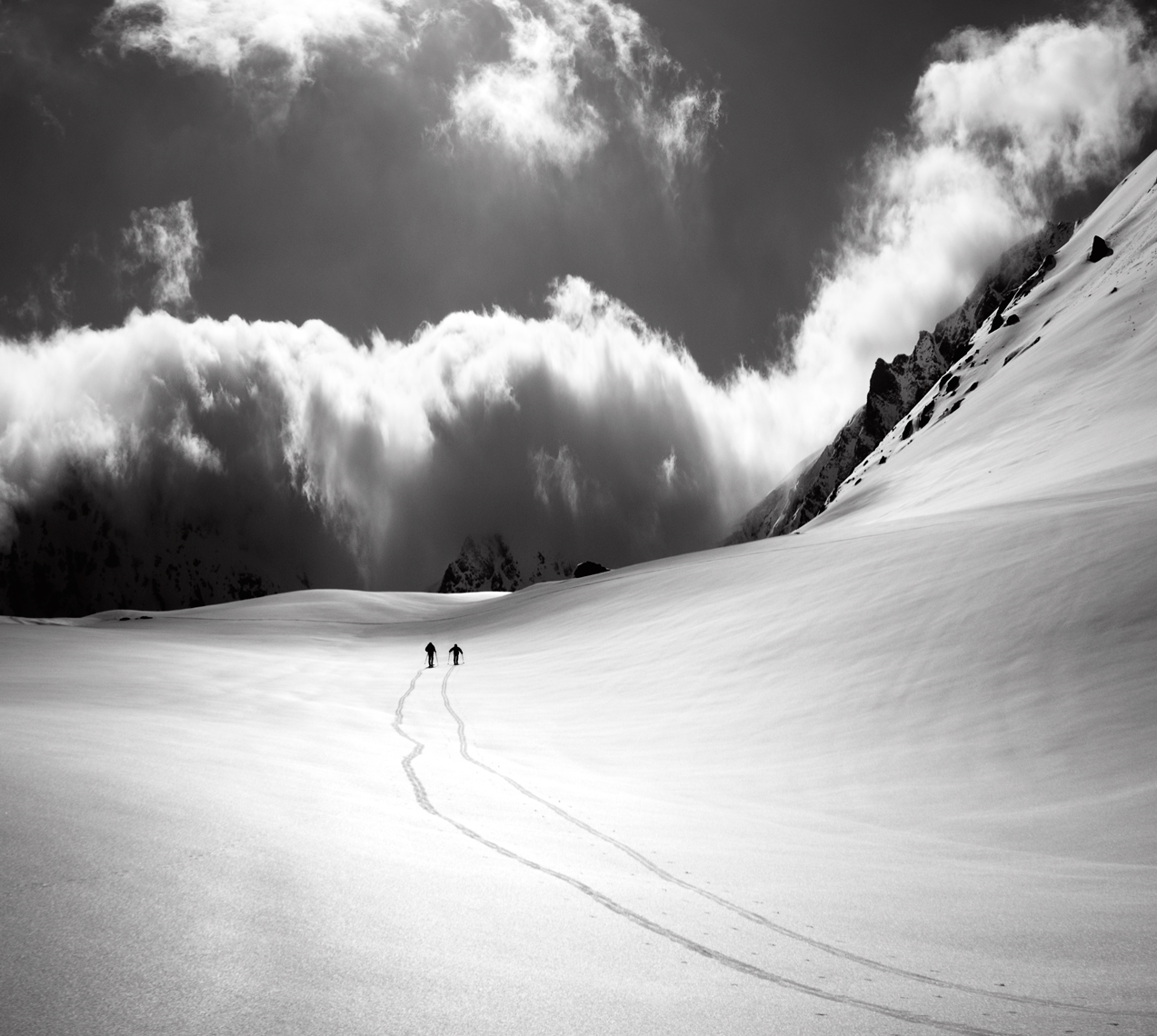 Jon Wyatt Photography - Ski touring in backcountry near Sainte Foy Tarentaise, France