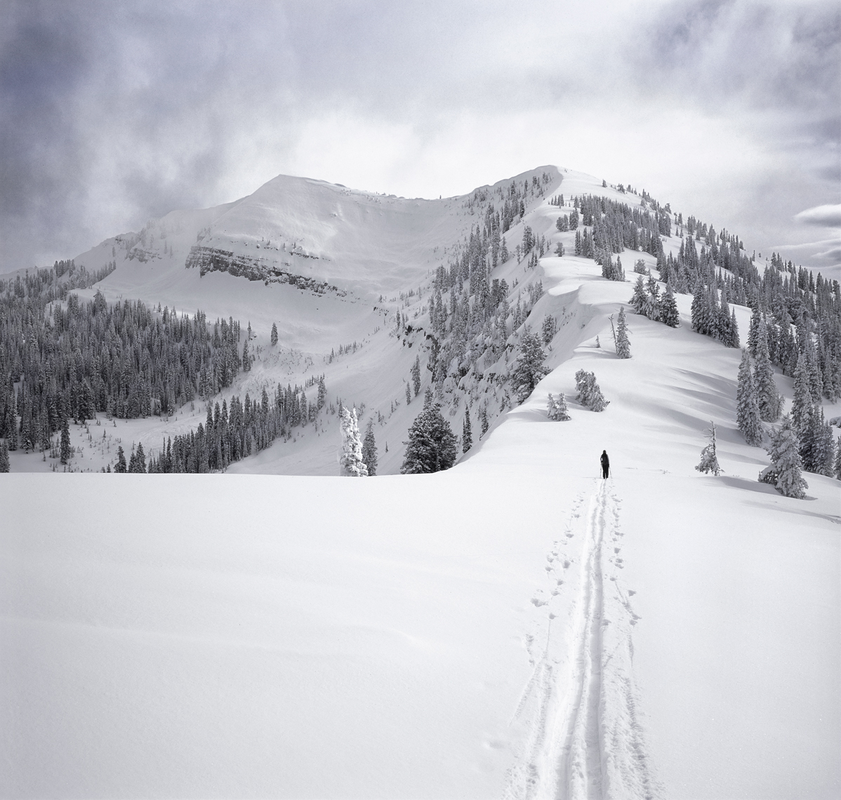 Jon Wyatt Photography - ski touring near Yellowstone