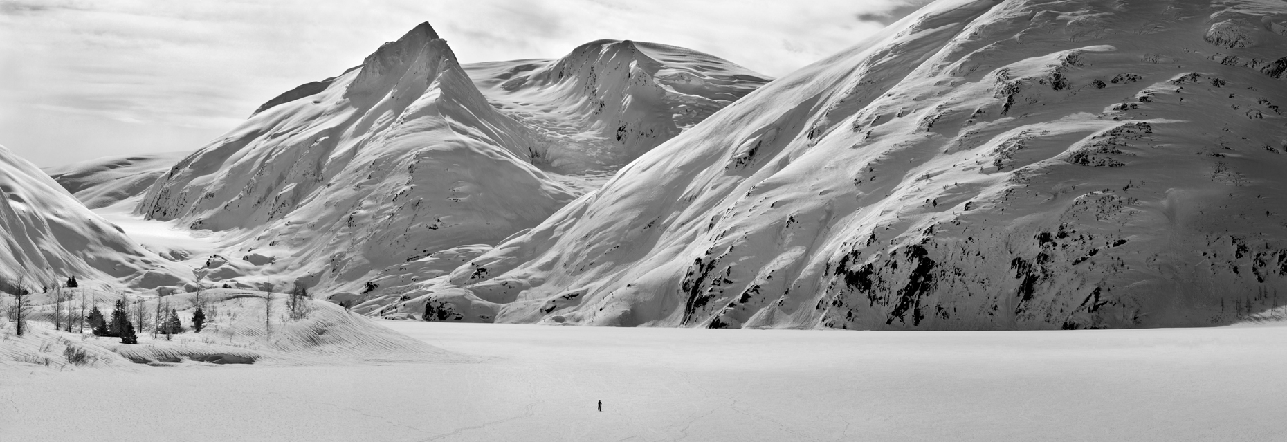 Jon Wyatt Photography - Lone ski-tourer Chugach Mountains, Alaska