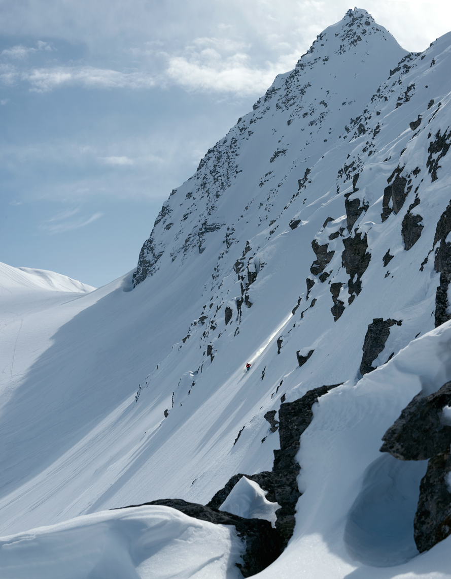 Jon Wyatt Photography - skier in Chugach Mountains, Alaska
