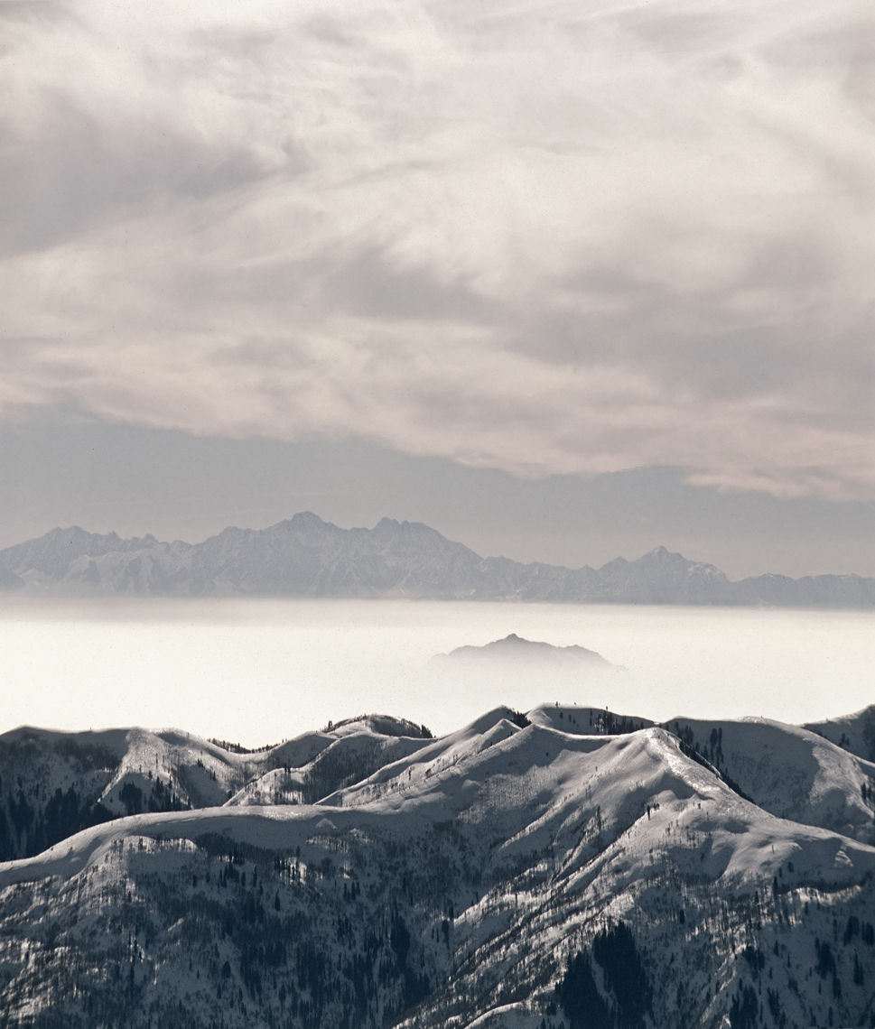 Jon Wyatt Photography - View over Great Salt Lake from Solitude Ski resort, USA